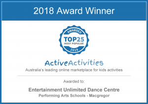 Award Active Activities Kids Top 25 Most Popular 2018