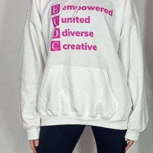Speciality Adult Hoodie White Close Up
